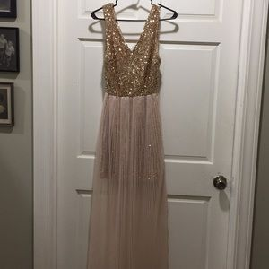 Gold sequin dress by aryn K, size small